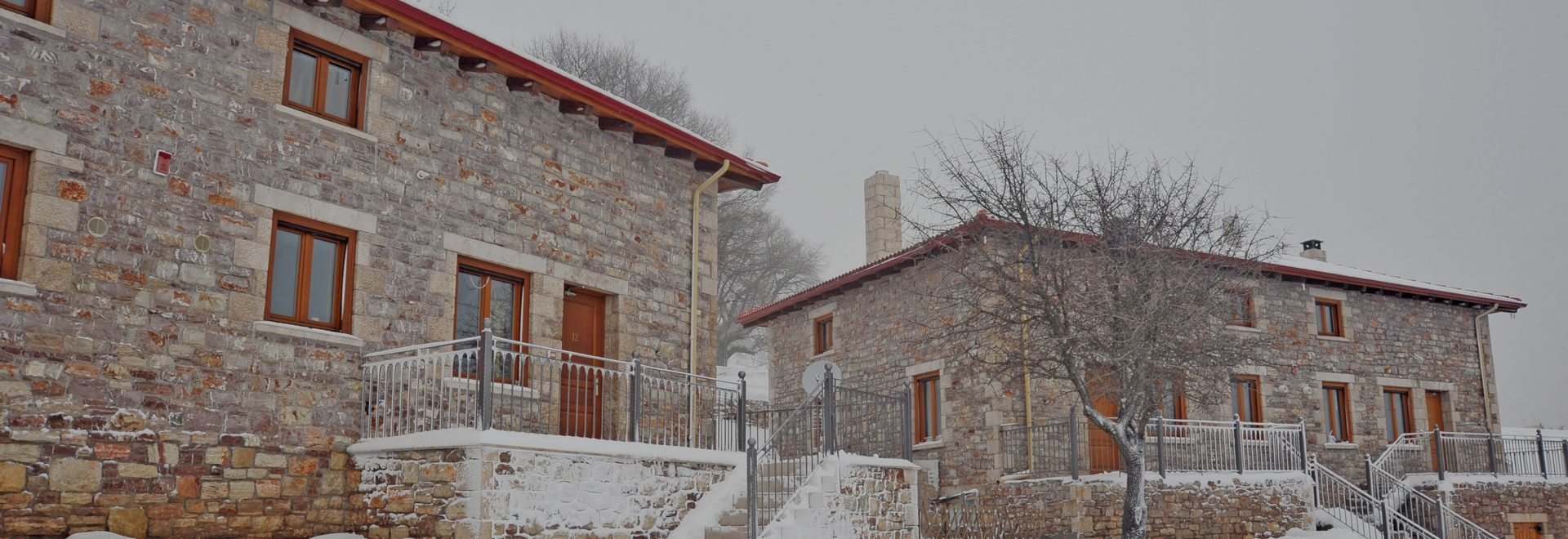 Traditional wooden studios and stone mansions.